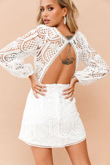 Take Me To The Tropics Dress // White