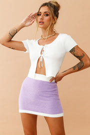 Clueless skirt // Lilac/White