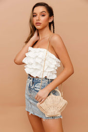 Bayway Shell Straw Bag