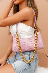 Rachie Gold Chain Bag Lilac