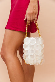 Milky Shell Bag // white