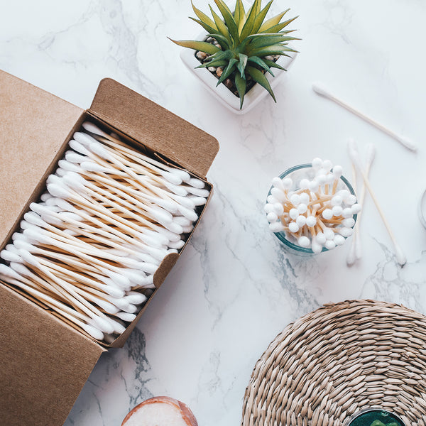 Bamboo cotton buds  -  .