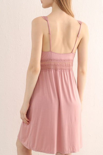 Blossom Padded Lace Slip (Pink)