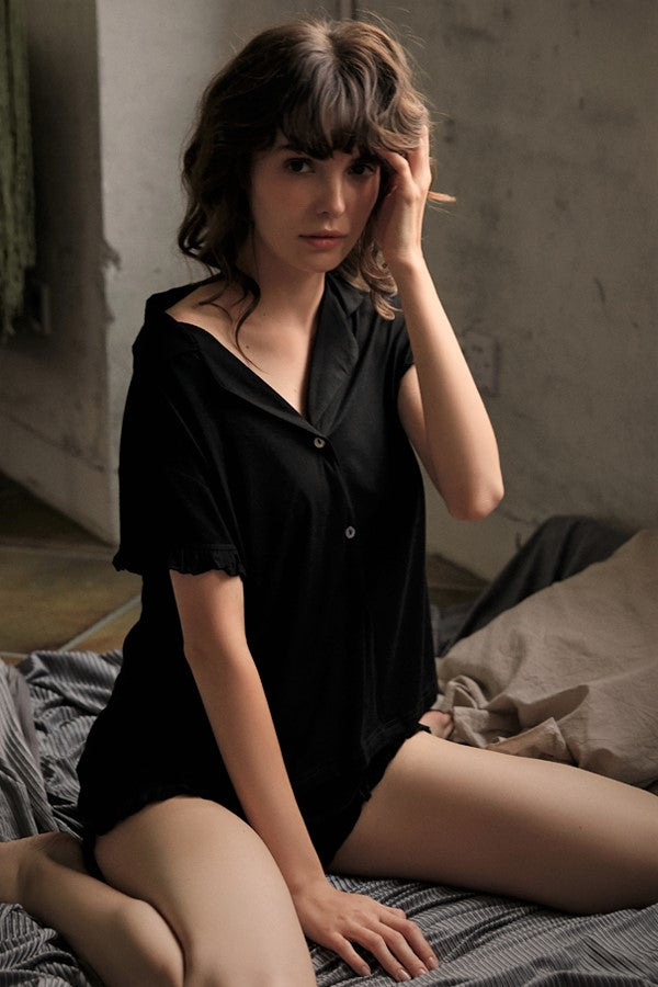 Cosy Modal PJ Set (Black)