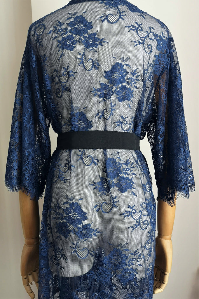 Ever After Lace Robe (Navy)