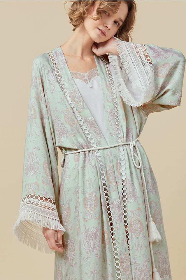 Holiday Paisley Midi Robe