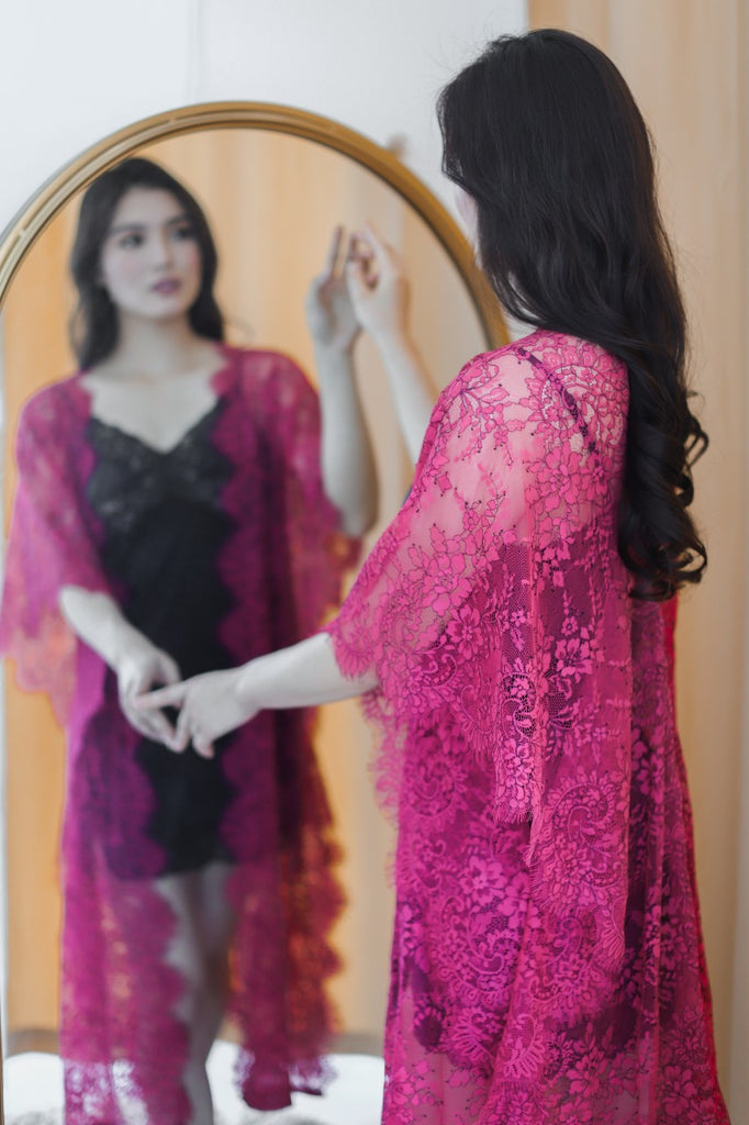 Limited Lace Kaftan (Berry)