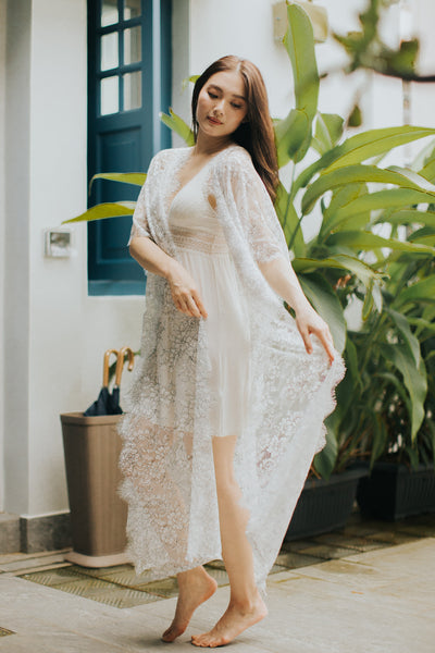 Limited Lace Kaftan (White)