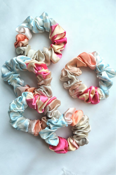 SUMMER Mulberry Silk Scrunchies (3 for $50)