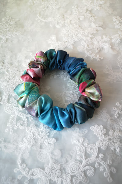 Mulberry Silk Scrunchies (Florals)