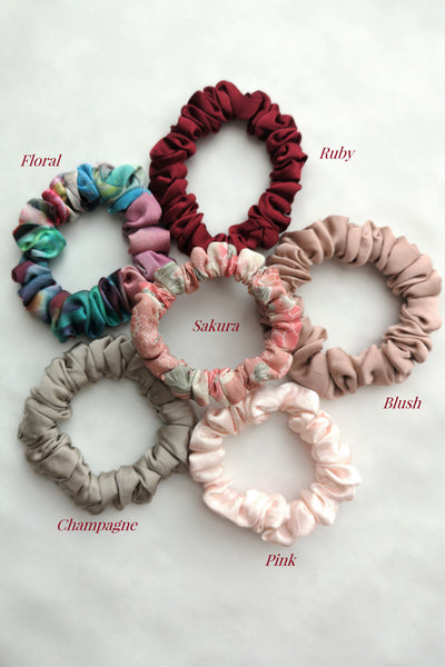 AUTUMN Mulberry Silk Scrunchies (3 for $50)