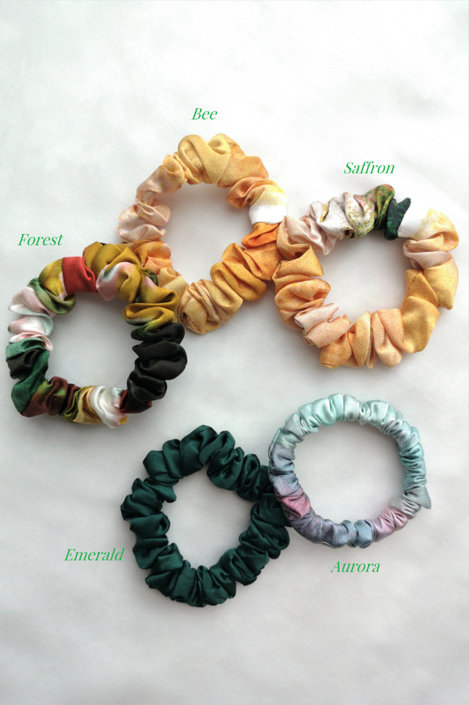 SPRING Mulberry Silk Scrunchies