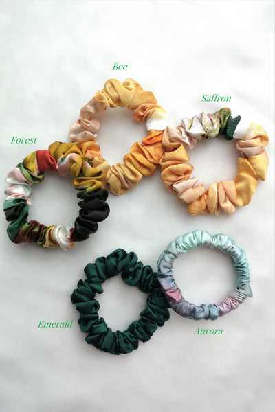 SPRING Mulberry Silk Scrunchies (3 for $50)