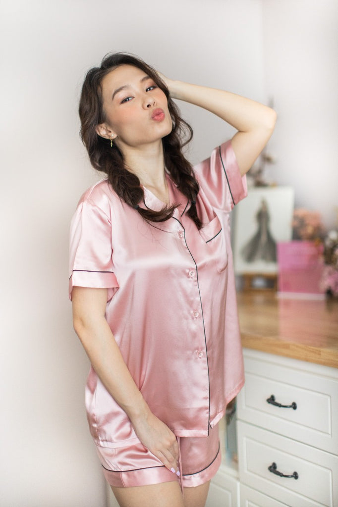 Mulberry Silk Short Pyjamas (Pink)
