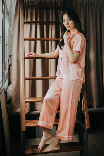 Long Silk Pyjamas S #78