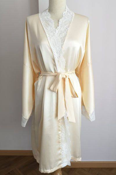 Silk Robe XL with Lace #14