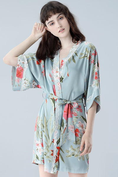 Wild Eden Blue Robe