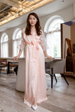 Anais Grace Silk Maxi Robe (Peach)