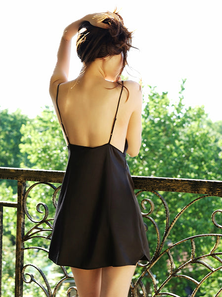 Black Satin Slip