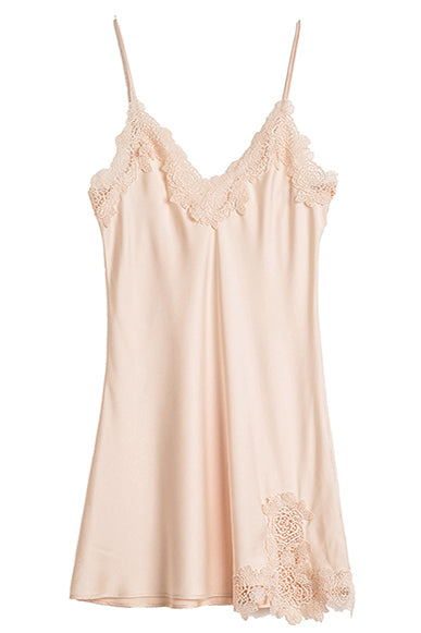 Buttermilk Lace Satin Slip - Bells & Birds