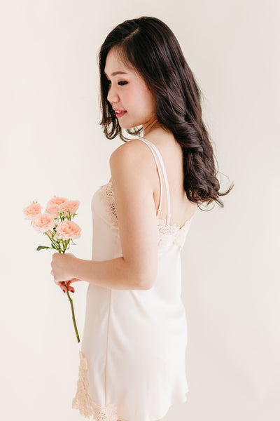 Buttermilk Lace Satin Slip
