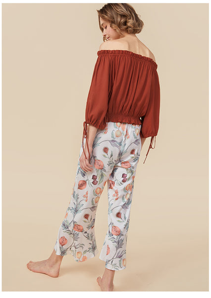 Crimson Clover Burnt Orange Pants Set