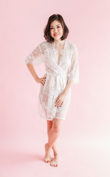 Ever After Lace Robe