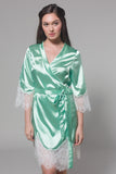 Frida Satin Robe (Sage)