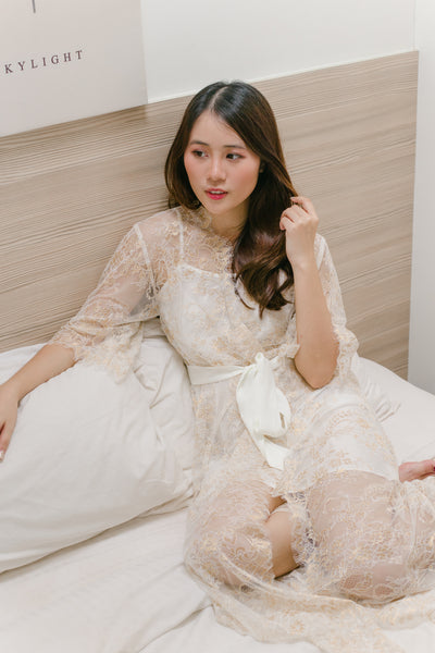 *Limited* Holiday Glitz Lace Maxi Robe