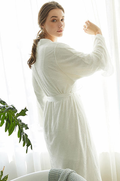 Iona Fleece Lace Robe