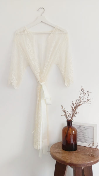 La Dolce Vita Lace Robe (Cream)