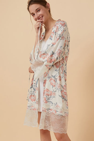 Lila Floral Robe