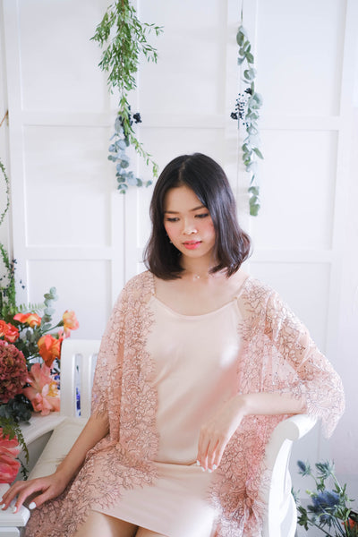Limited Lace Kaftan (Blush)