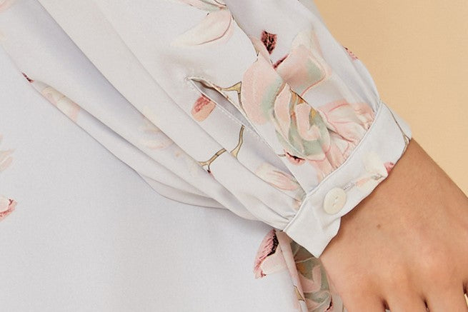 Lucia Floral Robe - Bells & Birds