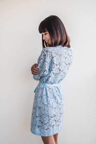 Powder Blue Lace Robe