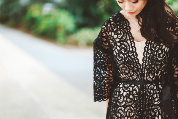 Queen of the Night Lace Robe
