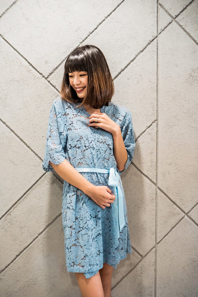 Robin's Egg Blue Lace Robe