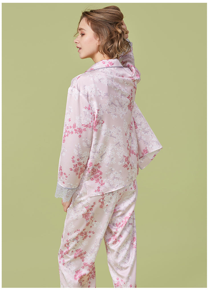 Sakura PJ Pants Set - Bells & Birds