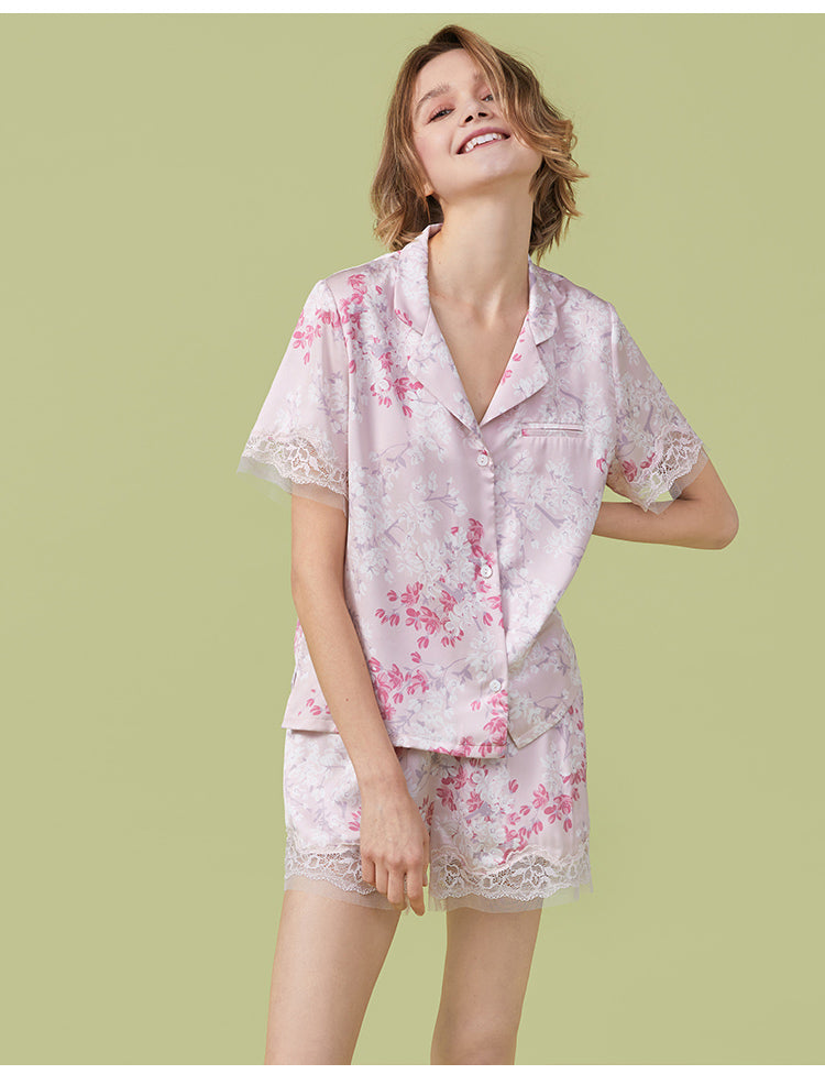 Sakura PJ Shorts Set - Bells & Birds
