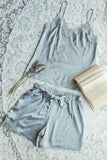 Steel Blue Cami Shorts Set