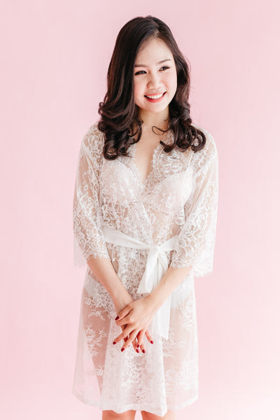 The Sweetest Day Lace Robe