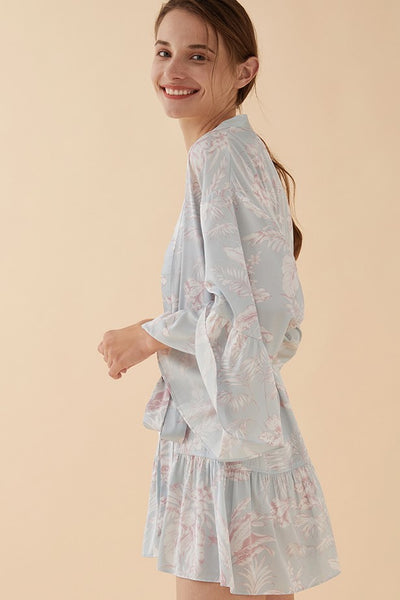 Thera Floral Robe