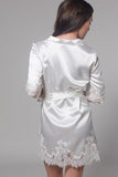 Frida Satin Robe (White)