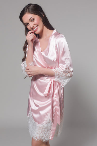 Frida Satin Robe (Pink)