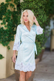 Scarlett Satin Robe (Powder Blue)