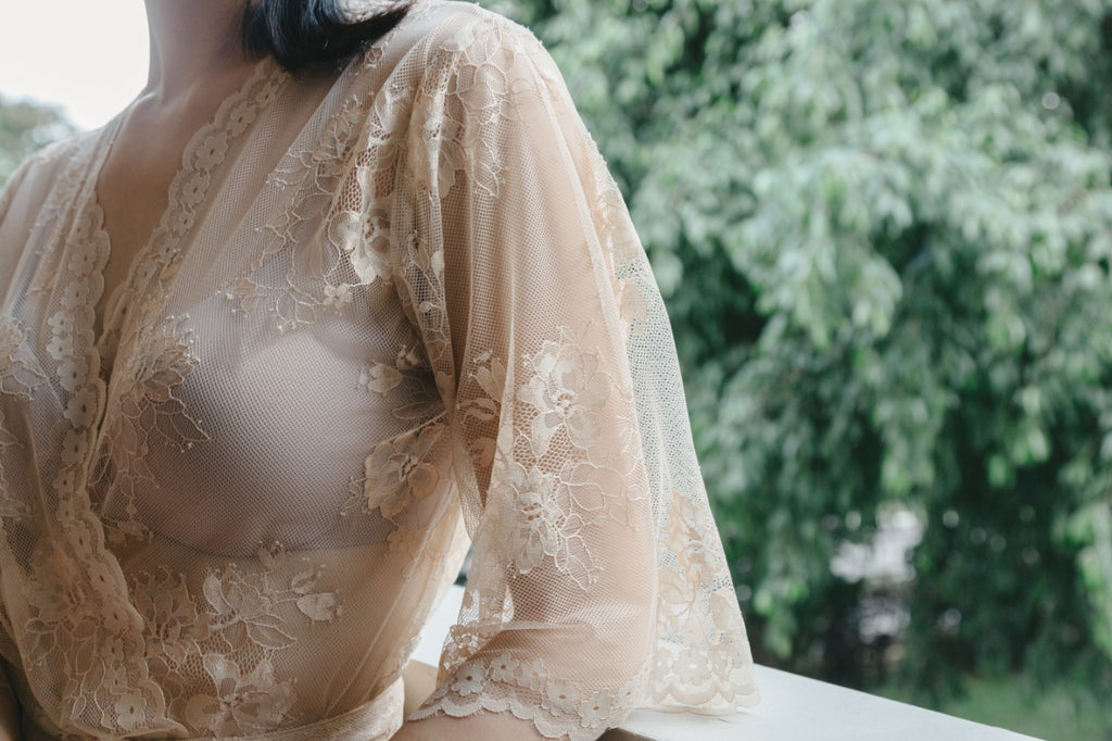 Gilded Grace Lace Robe