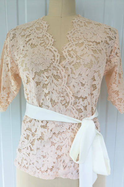 Champagne Lace Cropped Top