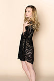 Elizabeth Lace Robe (Black)