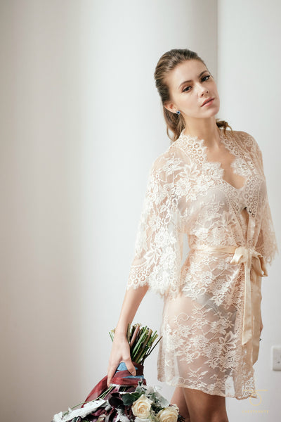 Swan Queen Lace Robe (Blush)