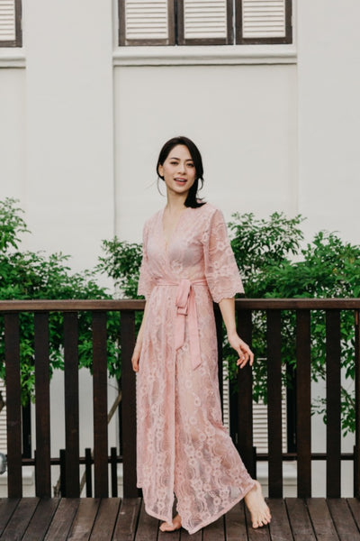This Day Forward Lace Maxi Robe (Blush)